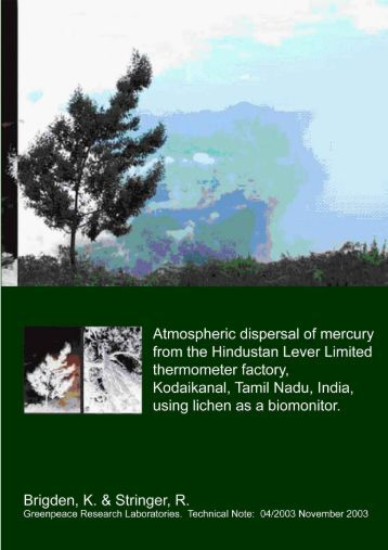 Atmospheric dispersal of mercury from the Hindustan Lever Limited ...