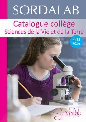 Catalogue Collège SVT 2013-2014 - sordalab