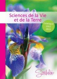 Voir le catalogue SVT en PDF - sordalab