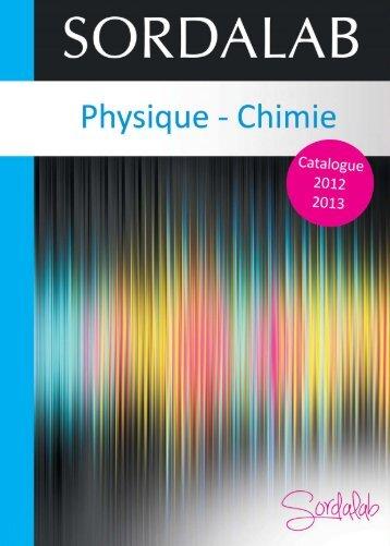 Catalogue PHYSIQUE 2012 - sordalab
