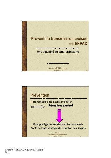 Prévenir la transmission croisée en EHPAD 2011 - ARS Languedoc ...