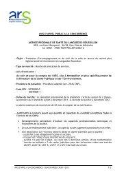 Avis d'appel à la concurrence - ARS Languedoc-Roussillon