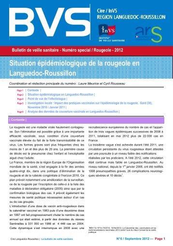 Bulletin de Veille Sanitaire n° 6 spécial / Rougeole 2012 - ARS ...