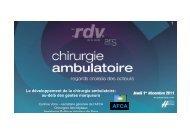 Le développement de la chirurgie ambulatoire - ARS Languedoc ...