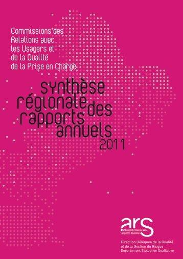 Synthèse régionaleCRUQPEC - ARS Languedoc-Roussillon