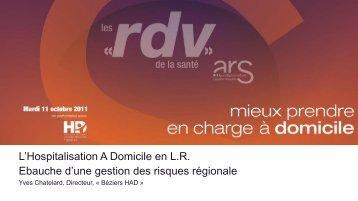 Ebauche d'un projet régional de Gestion du Risque en HAD - ARS ...