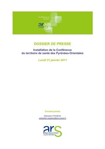 DOSSIER DE PRESSE - ARS Languedoc-Roussillon