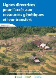Lignes directrices pour l'accès aux ressources génétiques et ... - Cirad