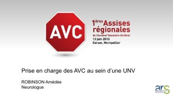 Prise en charge des AVC au sein d'une UNV - ARS Languedoc ...