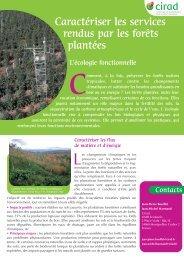 L'écologie fonctionnelle - Cirad