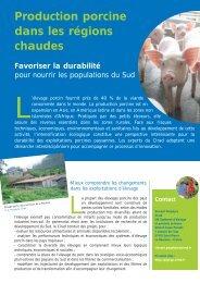 Production porcine dans les régions chaudes - Cirad