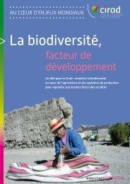 La biodiversité, facteur de développement - Cirad