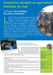 Production durable en agriculture familiale du Sud - Cirad