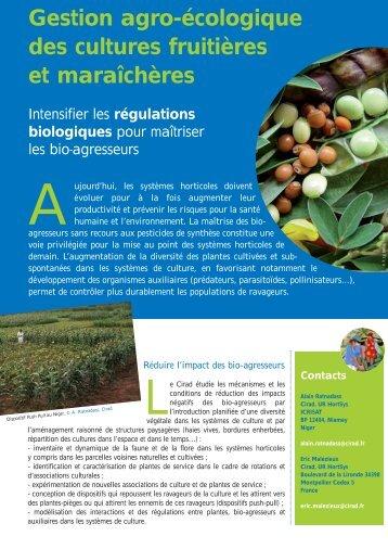 Gestion agro-écologique des cultures fruitières et maraîchères - Cirad