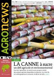 Agronews Réunion-océan Indien n°1, mars 2009 - Cirad