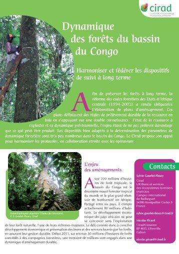 Dynamique des forêts du bassin du Congo - dispositifs de ... - Cirad