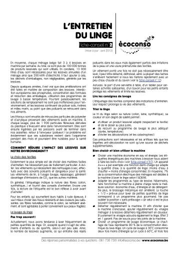 entretien du linge en pdf editions bpi