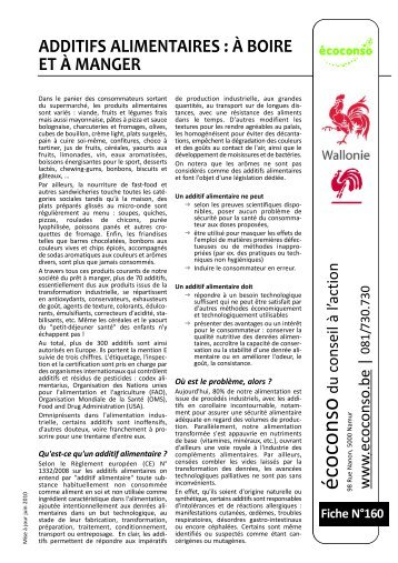 additifs alimentaires - écoconso
