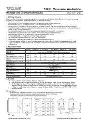 THS EK Warmwasser-Wandspeicher Montage- und - Dimplex