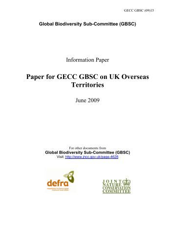 Update on UK Overseas Territories - JNCC - Defra