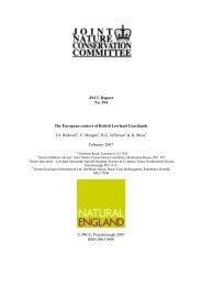 The European context of British Lowland Grassland ... - JNCC - Defra