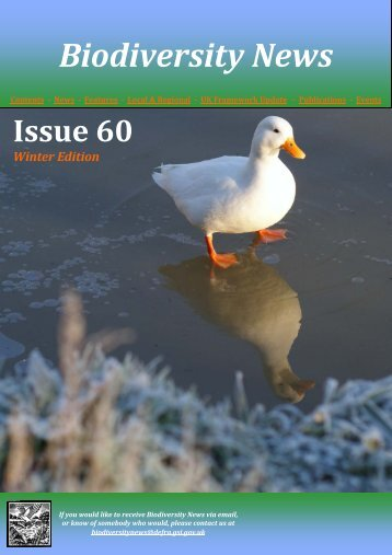 Biodiversity News - Issue 60 Winter - JNCC - Defra