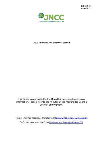 JNCC Performance Report 2011/12 - JNCC - Defra