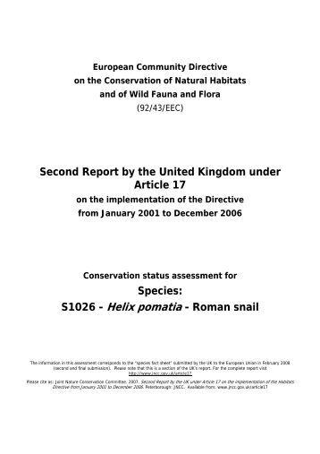 S1026 - Helix pomatia - Roman snail - JNCC