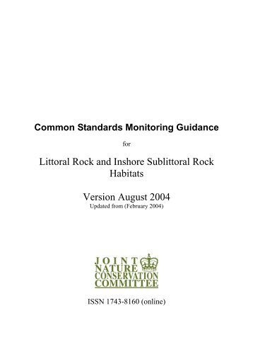 UK guidance for littoral rock and inshore sublittoral rock - JNCC