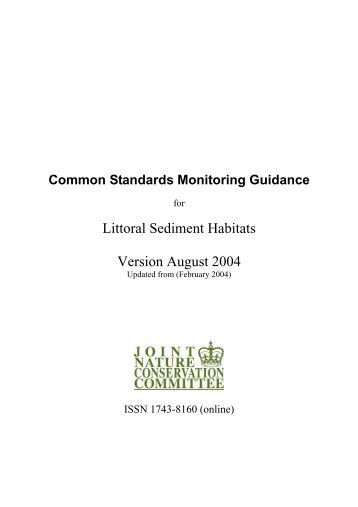 Common Standards Monitoring Guidance for Littoral ... - JNCC