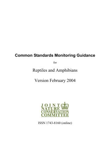 Common Standards Monitoring guidance for reptiles and ... - JNCC