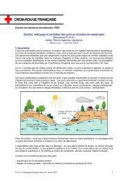 Gestion, nettoyage et sanitation des puits en situation de catastrophe