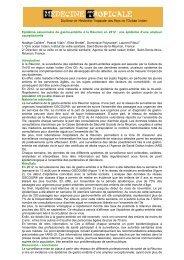 Epidémie de gastro-entérite à La Réunion en 2012 - Médecine ...