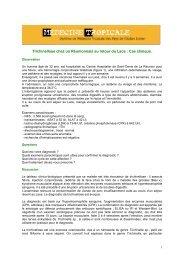 Trichinellose (cas clinique) - Médecine tropicale