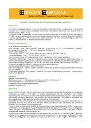 Carcinome hépatocellulaire (cas clinique) - Médecine tropicale