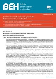 Recommandations sanitaires pour les voyageurs, 2011
