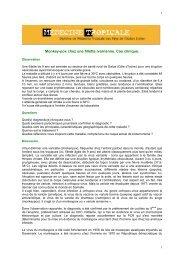 Monkey-pox - Médecine tropicale