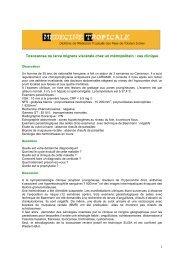 Toxocarose - Médecine tropicale