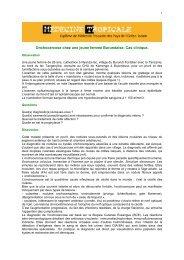 Onchocercose - Médecine tropicale