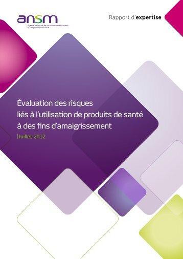 Evaluation des risques lies a l'utilisation de produits de ... - ANSM