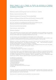 Jpic 2007 Discours inaugural / janvier 2008 - Pharmacies.ma