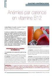 Anémies par carence en vitamine B12 - Pharmacies.ma