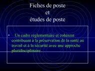 Étude de poste - Pôle Santé de Grenoble