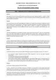 REGLEMENT D'ETUDES – ANNEE UNIVERSITAIRE 2012 – 2013 ...