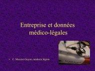 Entreprise et données médico-légales - Pôle Santé de Grenoble