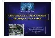 cindyniques et perceptions du risque nucleaire - Pôle Santé de ...
