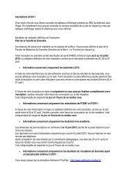 Inscriptions 2010/11 Pour rester informé vous devez consulter les ...