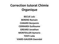 Correction tutorat Chimie Générale