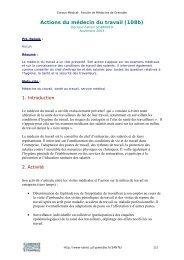 Actions du médecin du travail (108b) - Pôle Santé de Grenoble