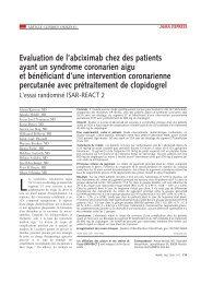 Evaluation de l'abciximab chez des patients ayant un syndrome ...